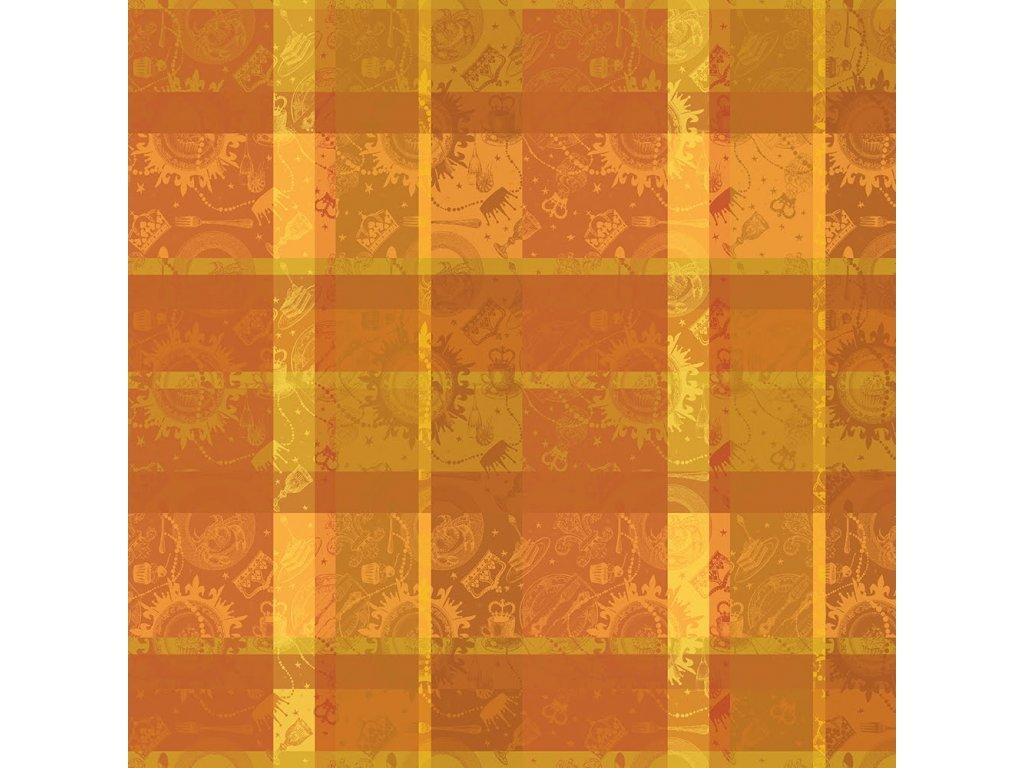 MILLE BANQUETS Ocre Metrový textil / látka šíře 185 cm