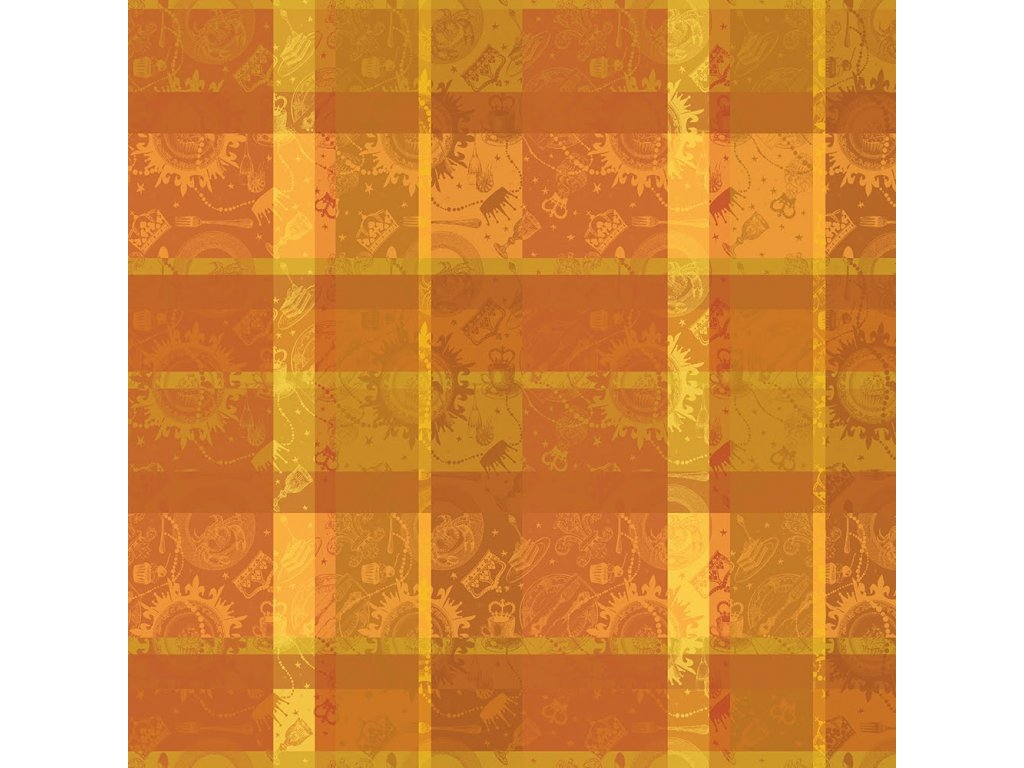 MILLE BANQUETS Ocre Metrový textil / látka šíře 180 cm