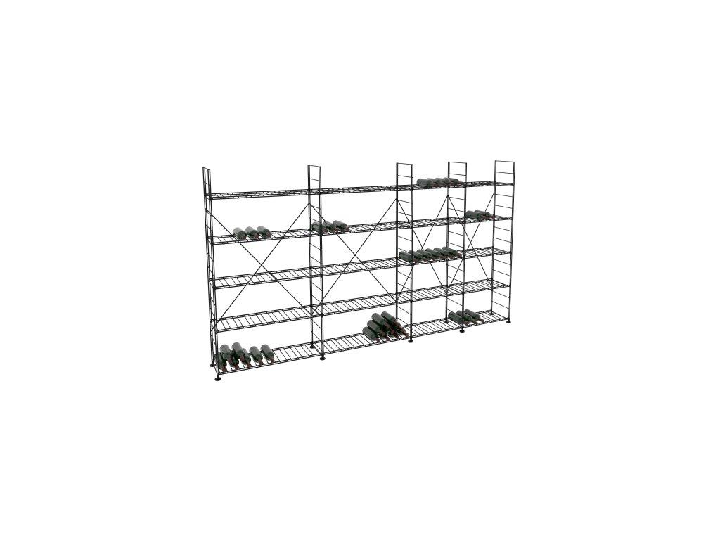 Základní regál na víno 170x303x33 cm 4 moduly, L' Atelier du Vin