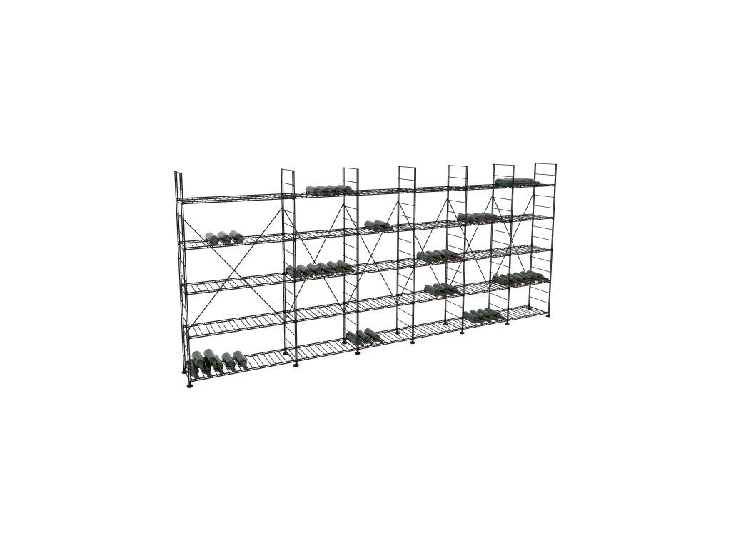 Základní regál na víno 170x393x33 cm 6 modulů, L' Atelier du Vin
