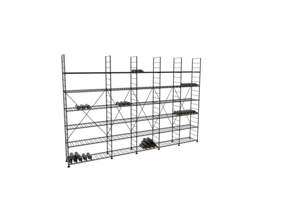 Základní regál na víno 220x333x33 cm 5 modulů, L' Atelier du Vin