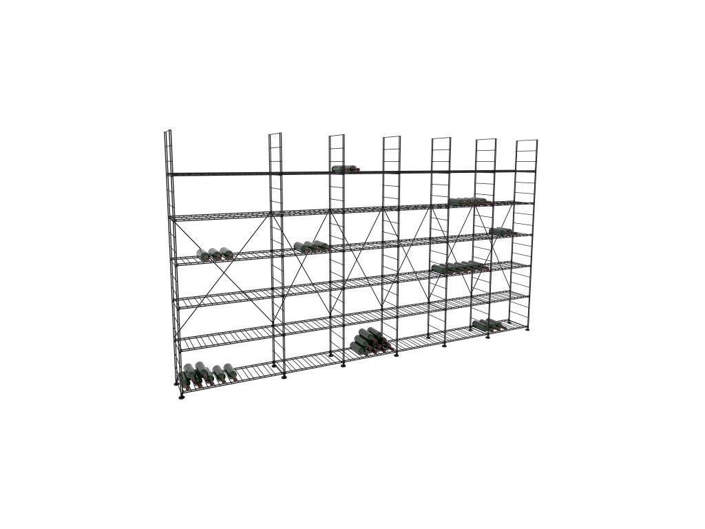 Základní regál na víno 220x393x33 cm 6 modulů, L' Atelier du Vin