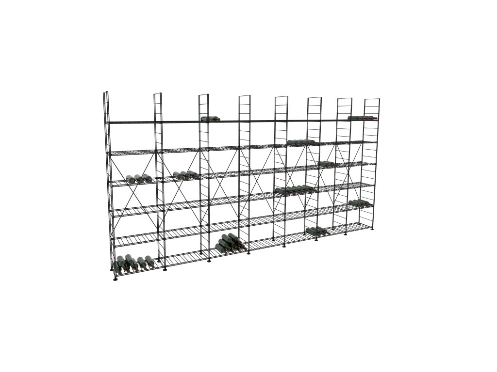 Základní regál na víno 220x423x33 cm 7 modulů, L' Atelier du Vin