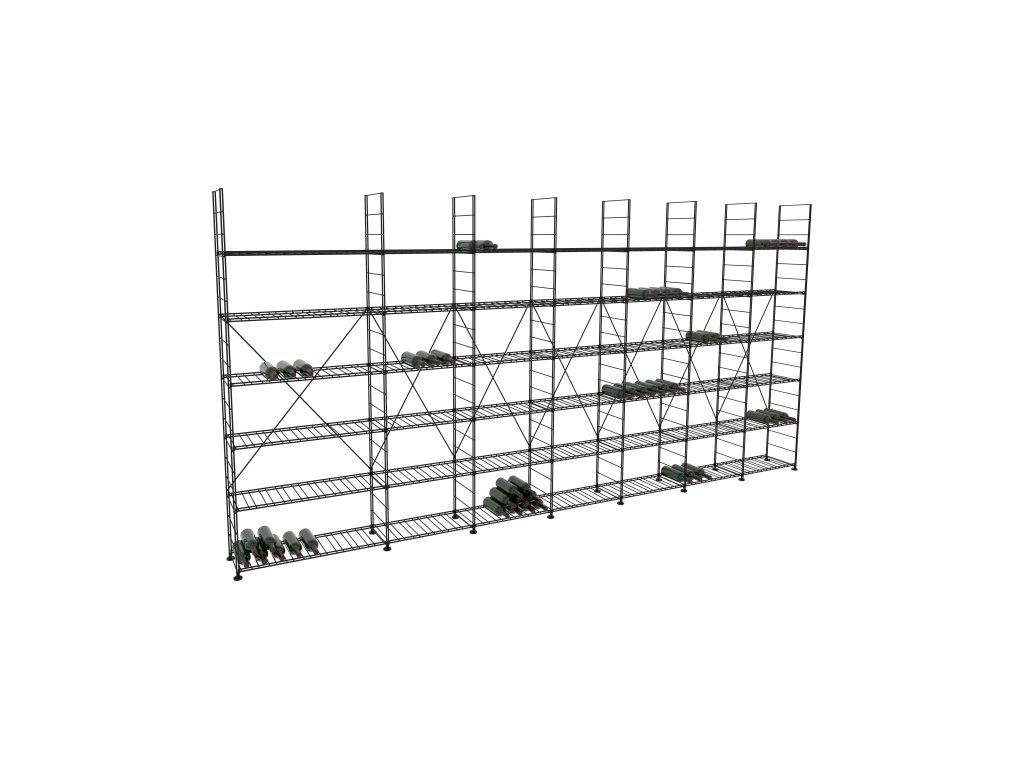 Základní regál na víno 220x453x33 cm 7 modulů, L' Atelier du Vin