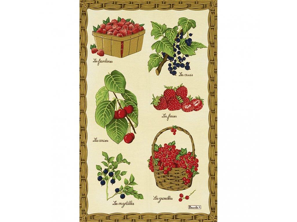 Beauvillé Fruits Rouges utěrka 50x80 cm