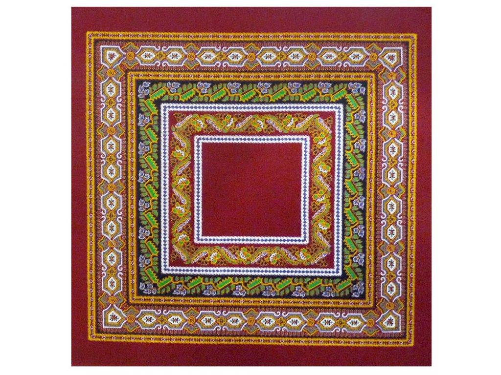 Beauvillé Sanchi červený ubrousek 40x40 cm