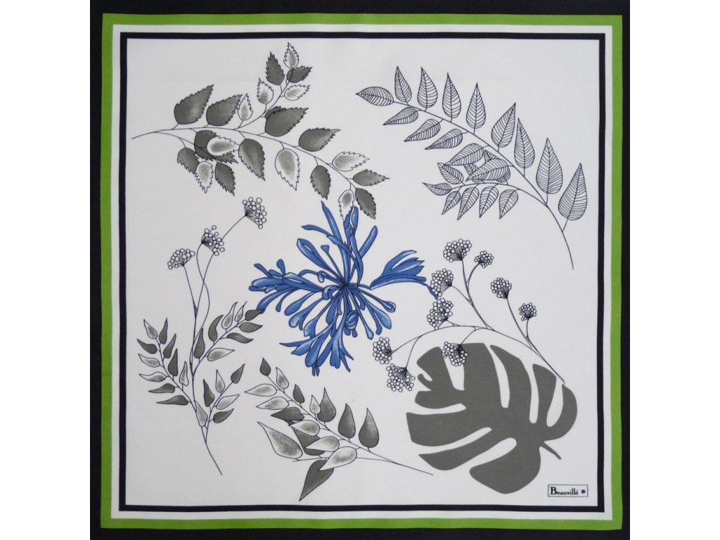 Beauvillé Agapanthes bílý ubrousek 52x52 cm