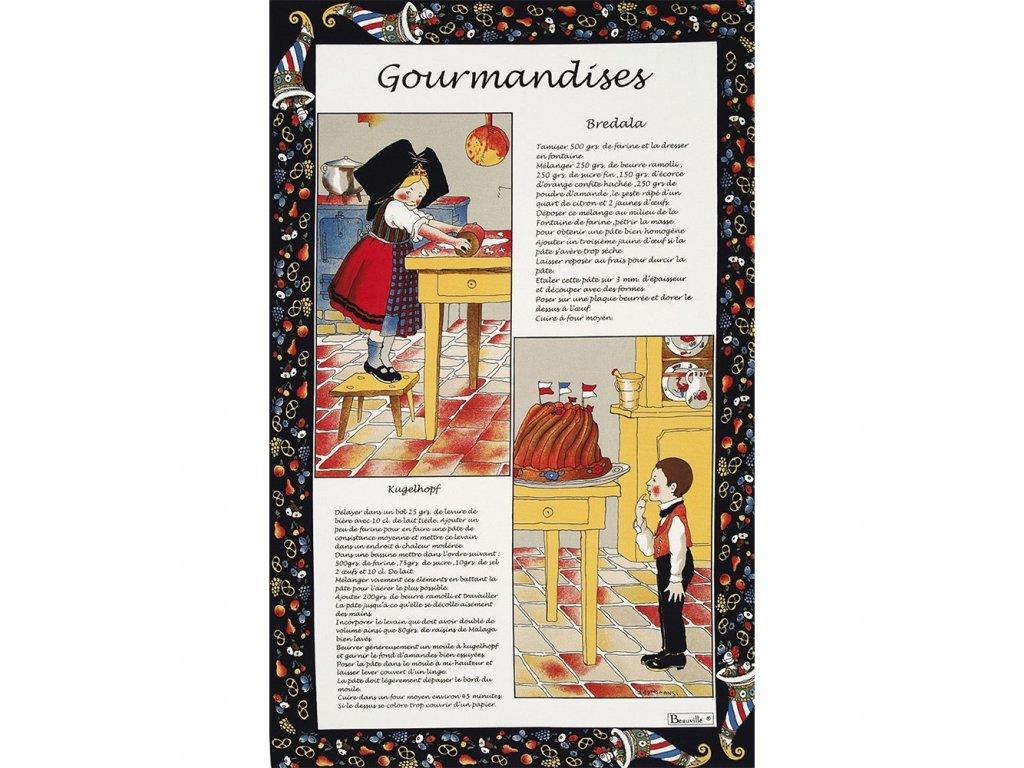 Beauvillé Gourmandises utěrka 50x80 cm