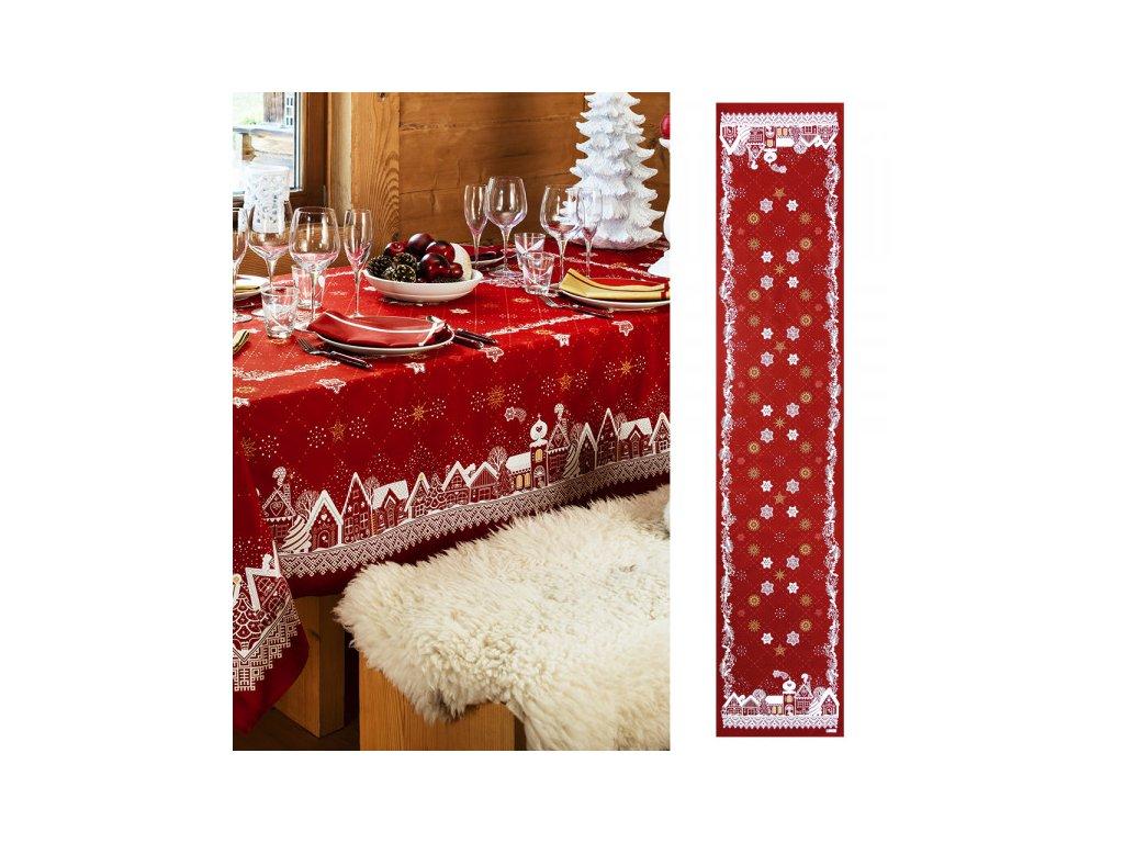 Beauvillé NUIT ETOILÉE červený běhoun 50x250 cm
