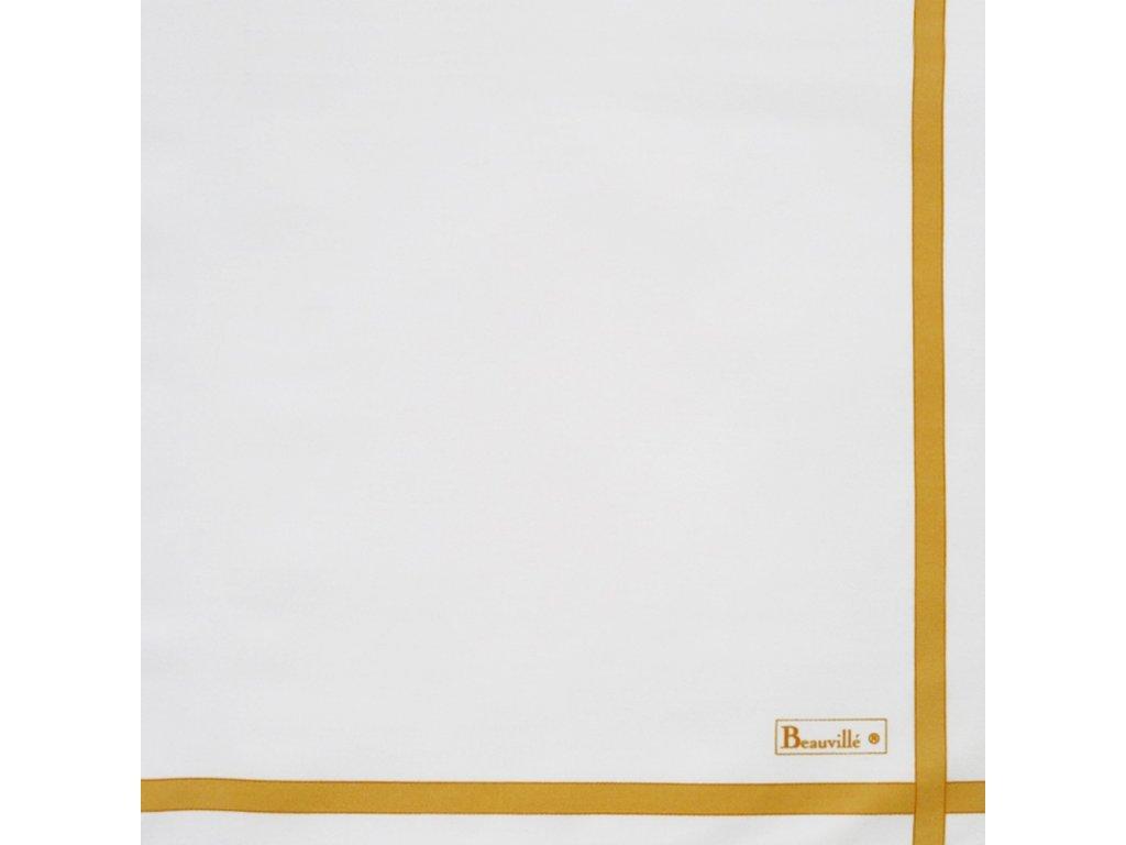 Beauvillé Bicolore bílý ubrousek 52x52 cm