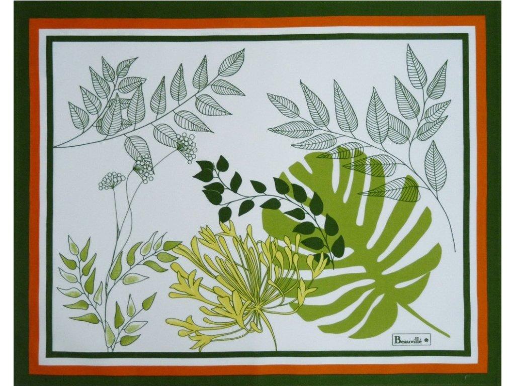 Beauvillé Agapanthes zelená prostírka 38x48 cm