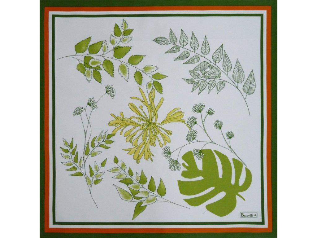 Beauvillé Agapanthes zelený ubrousek 52x52 cm
