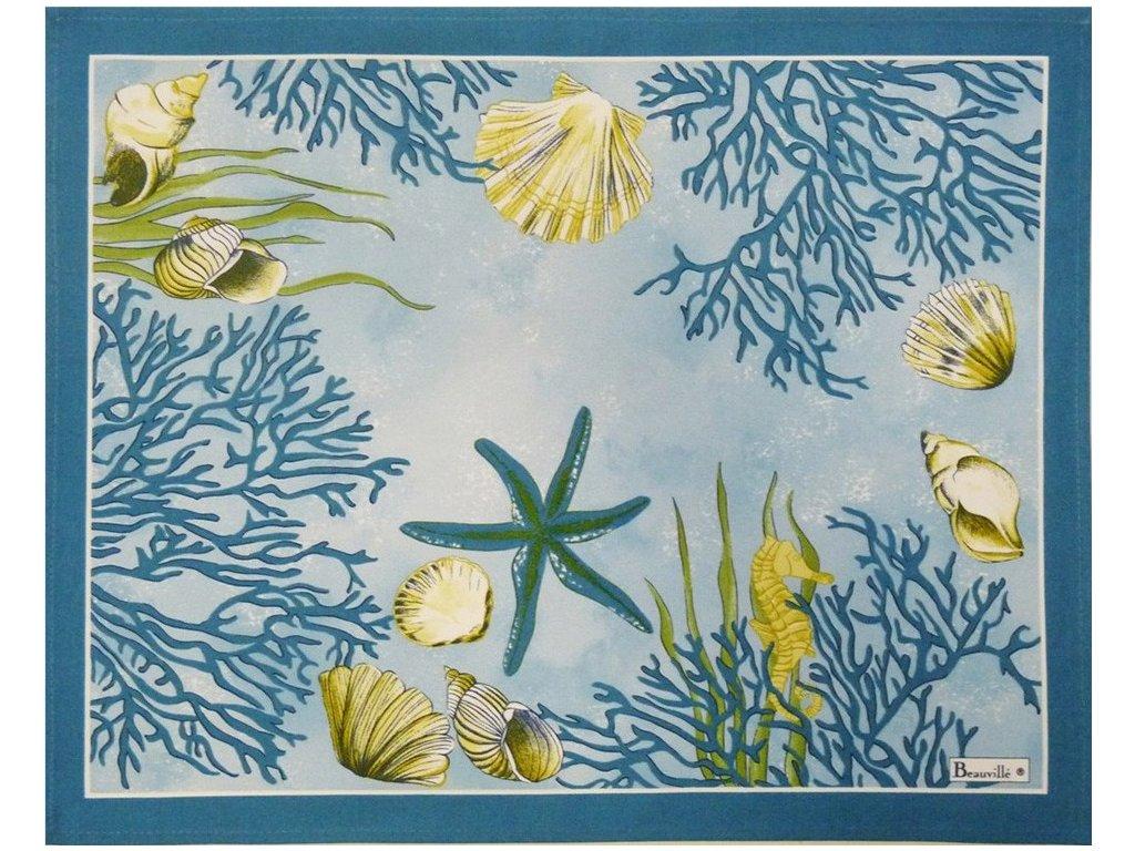 Beauvillé Corail modrá prostírka 38x48 cm