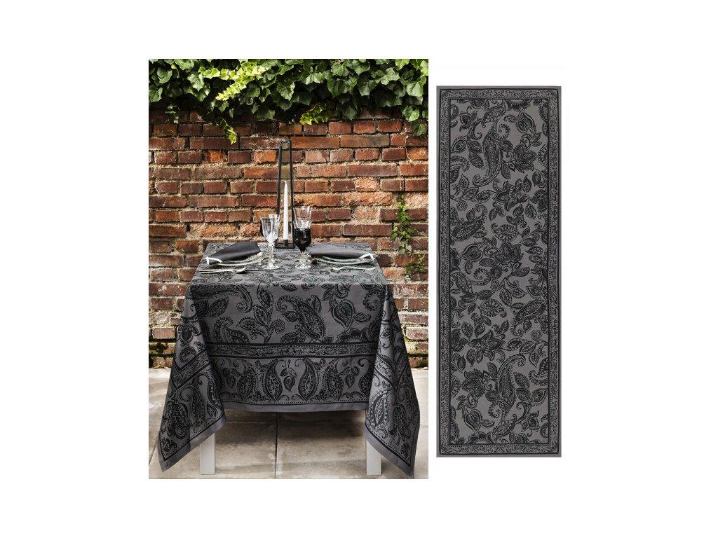 Beauvillé DINER EN VILLE šedý běhoun 50x150 cm