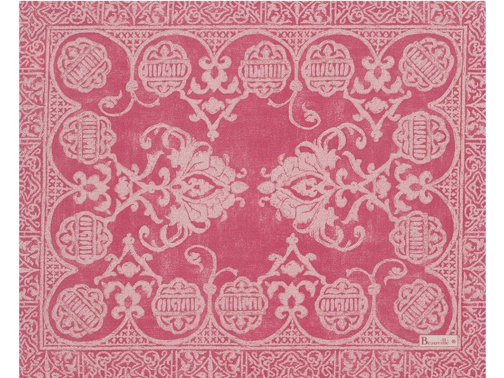 Beauvillé Grand Soir růžová prostírka 40x50 cm