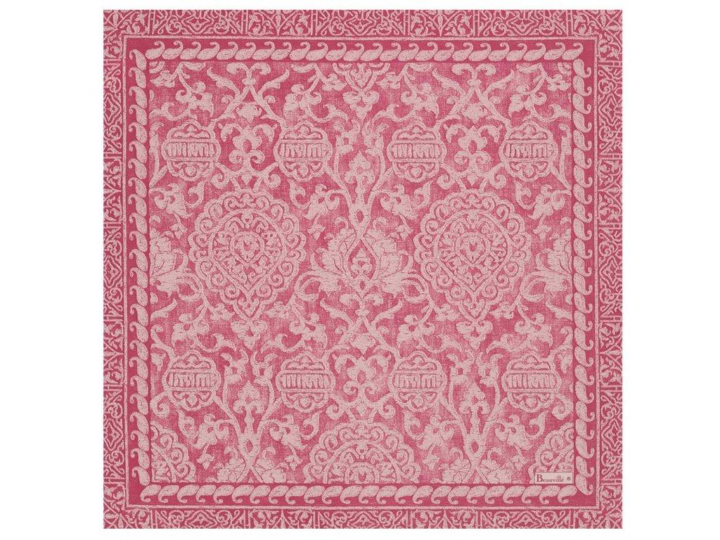 Beauvillé Grand Soir růžový ubrousek 55x55 cm