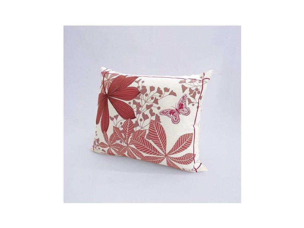 Beauvillé GRANDES PALMES růžový povlak na polštář 40x50 cm