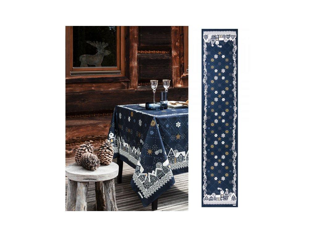 Beauvillé NUIT ETOILÉE modrý běhoun 50x250 cm