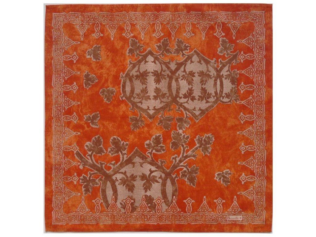 Beauvillé Rialto oranžový ubrousek 55x55 cm