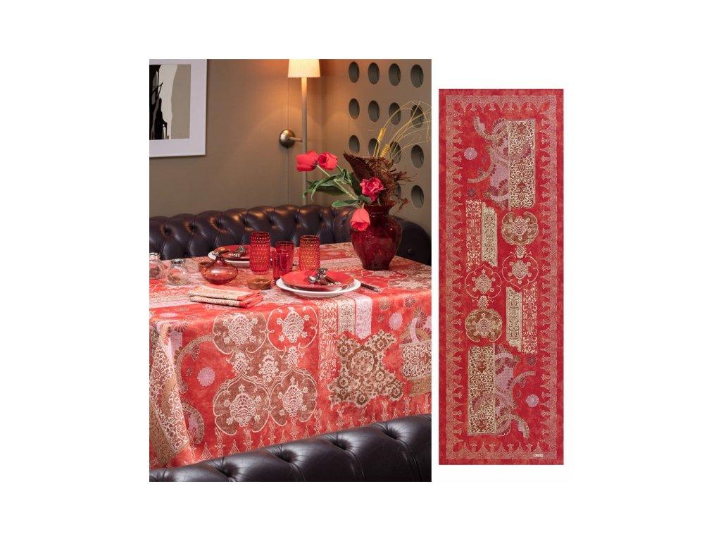 Beauvillé Rialto červený běhoun 50x150 cm