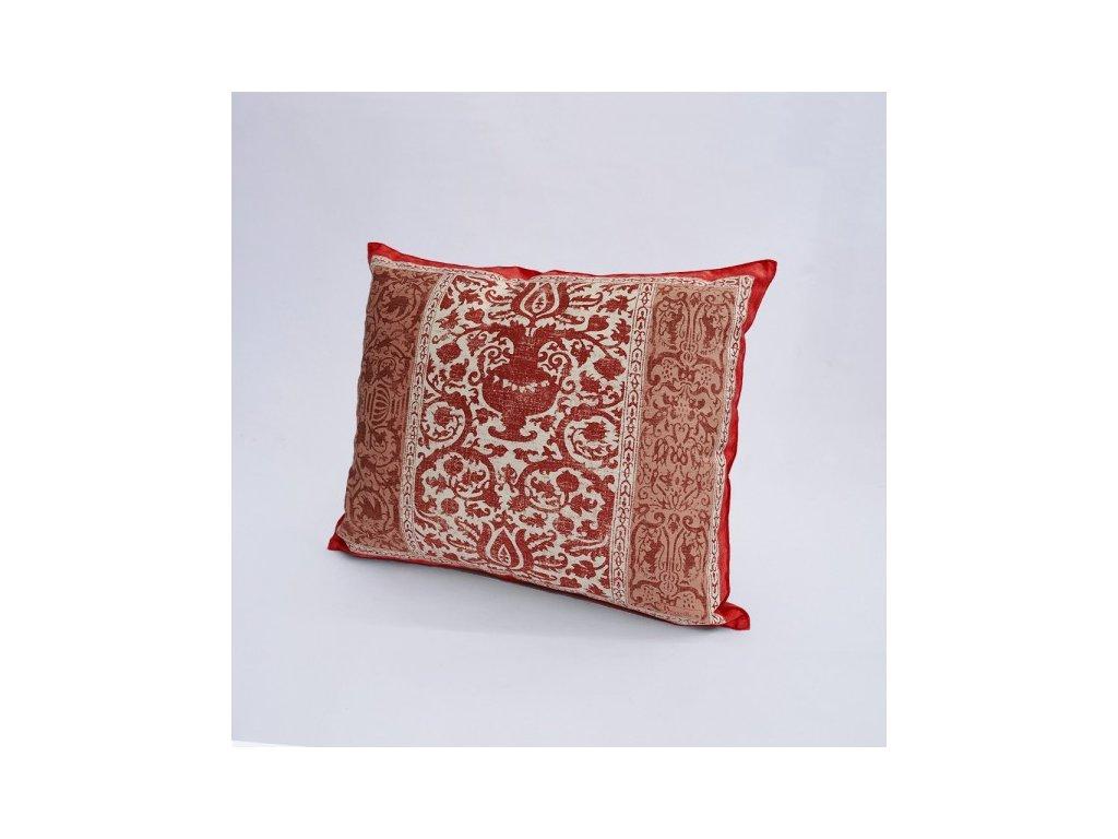 Beauvillé Rialto červený povlak na polštář