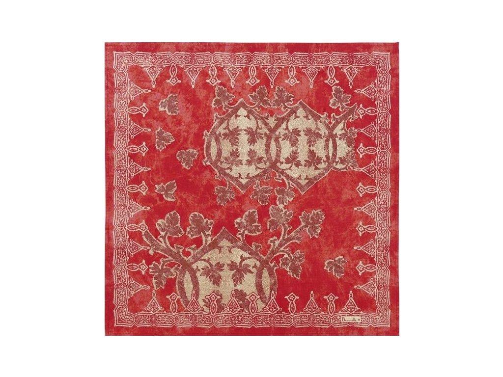 Beauvillé Rialto červený ubrousek 55x55 cm