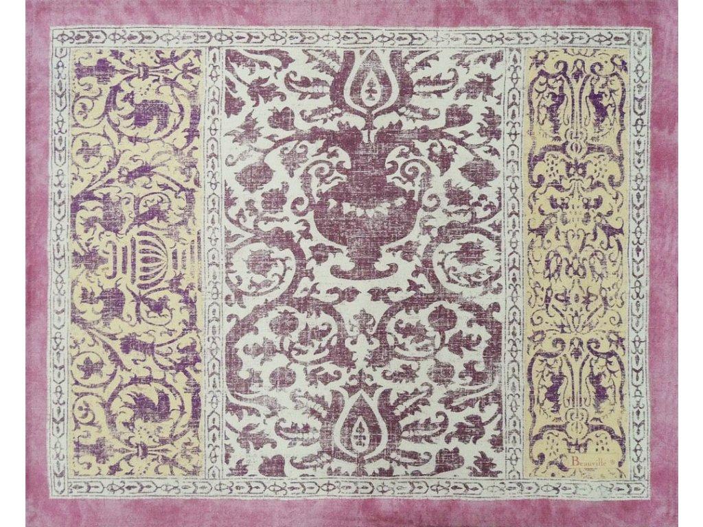 Beauvillé Rialto fialová prostírka 40x50 cm