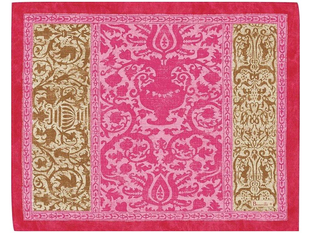 Beauvillé Rialto růžová prostírka 40x50 cm