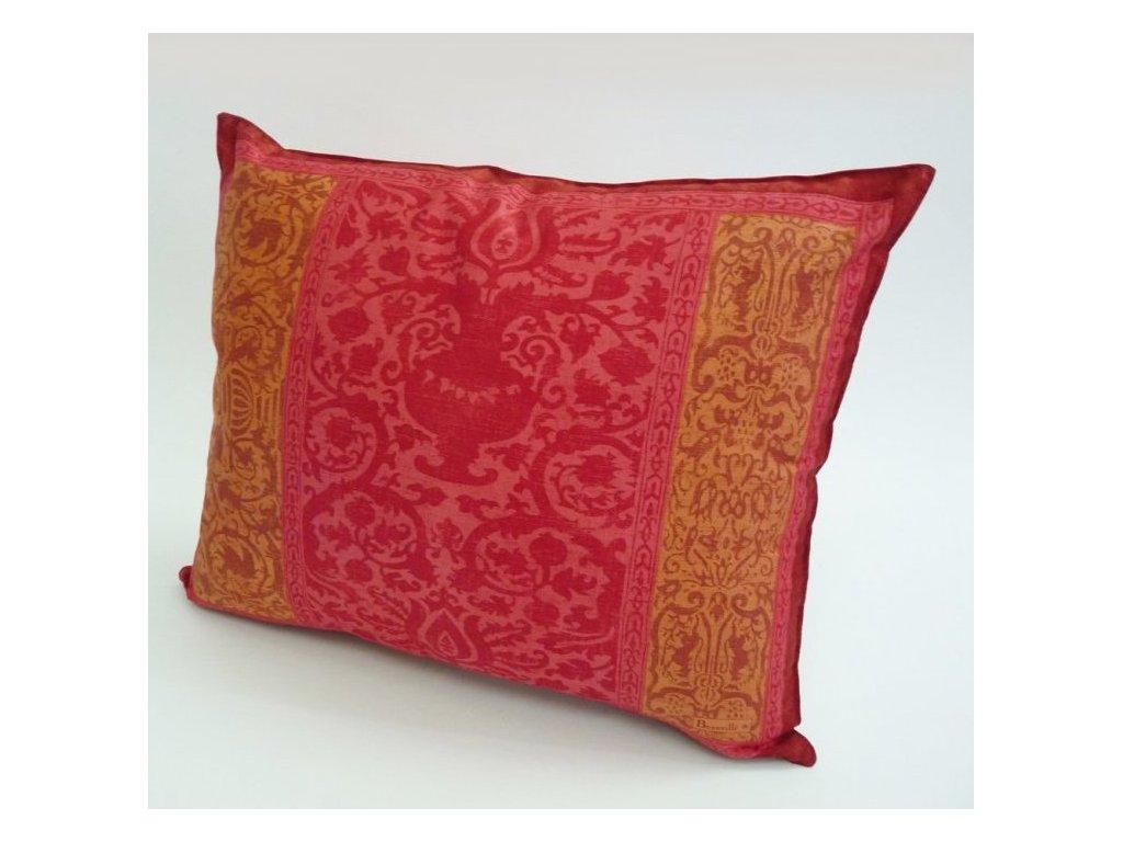 Beauvillé Rialto růžový povlak na polštář