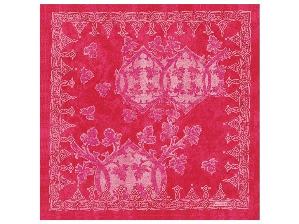 Beauvillé Rialto růžový ubrousek 55x55 cm