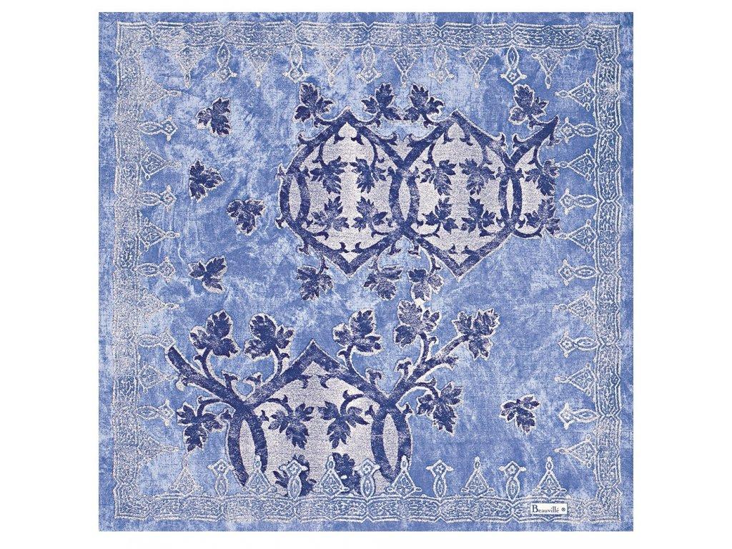 Beauvillé Rialto světle modrý ubrousek 55x55 cm