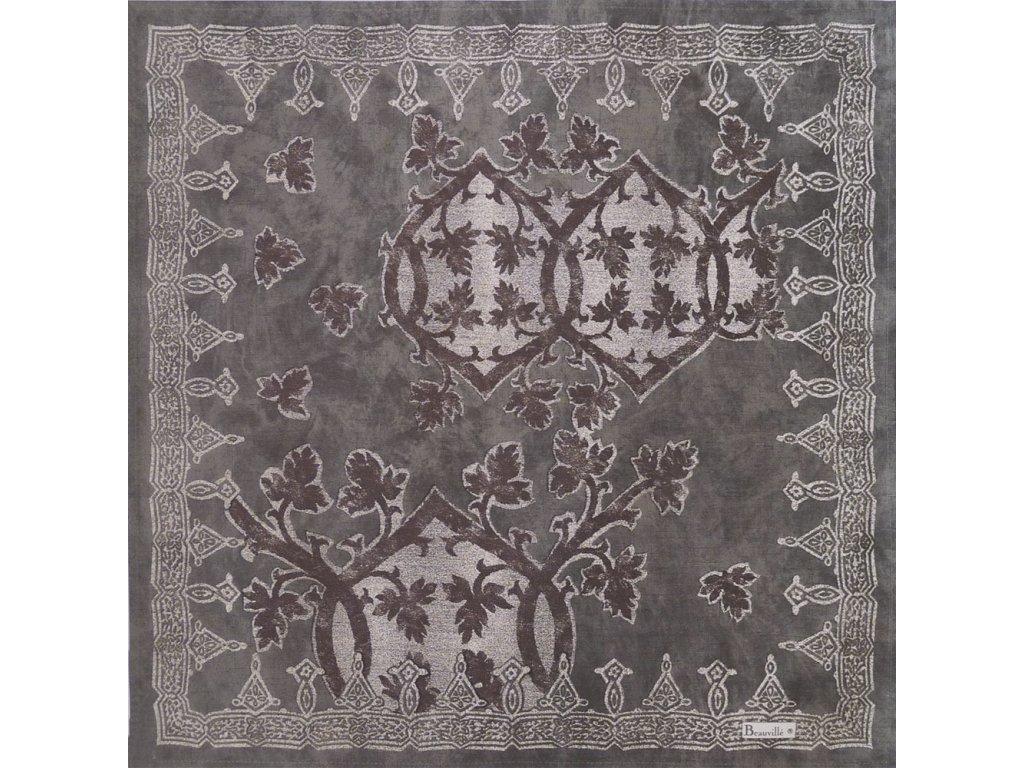Beauvillé Rialto světle šedý ubrousek 55x55 cm