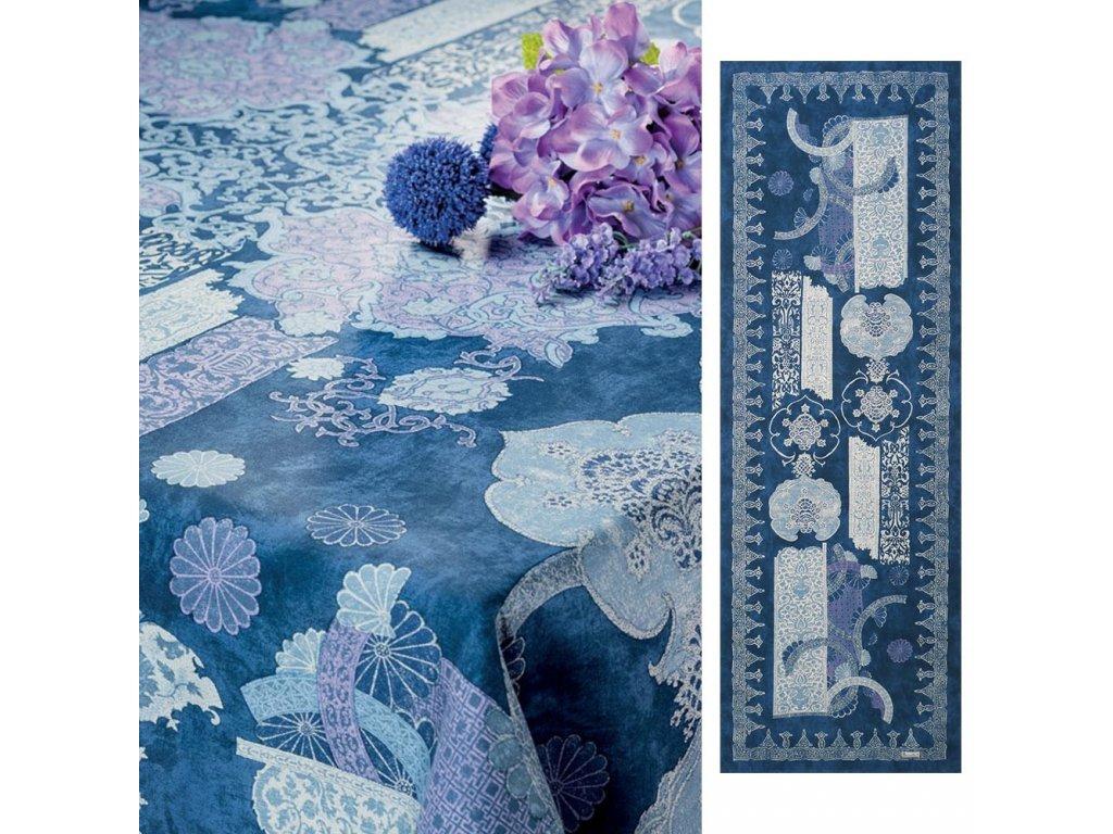 Beauvillé Rialto tmavě modrý běhoun 50x150 cm