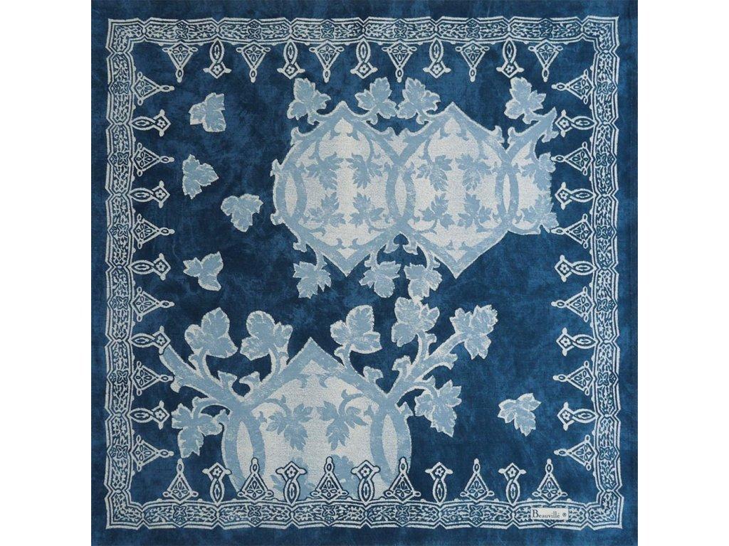 Beauvillé Rialto tmavě modrý ubrousek 55x55 cm