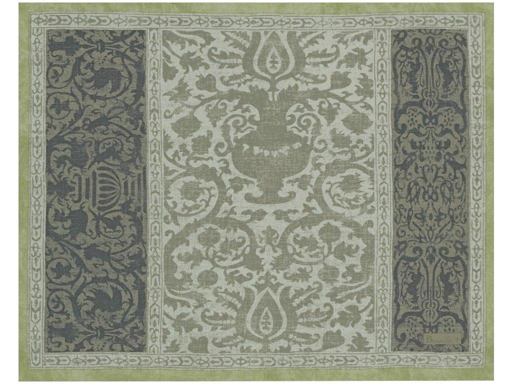 Beauvillé Rialto zelená prostírka 40x50 cm