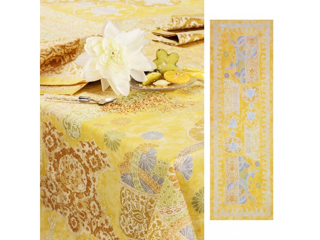 Beauvillé Rialto žlutý běhoun 50x150 cm