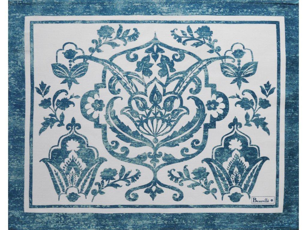 Beauvillé Saint-Tropez modrá prostírka s ochranou proti ušpinění 40x50 cm