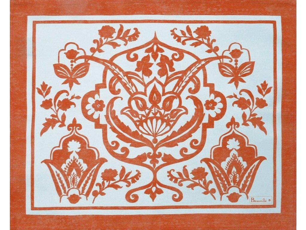 Beauvillé Saint-Tropez oranžová prostírka 40x50 cm