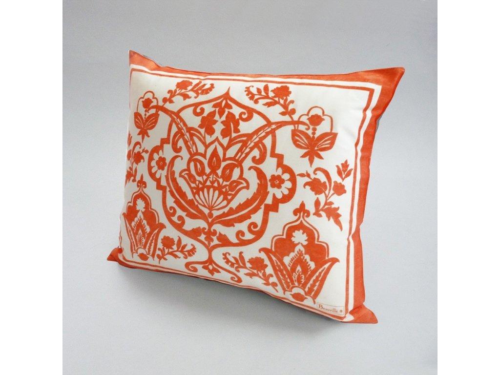 Beauvillé Saint-Tropez oranžový povlak na polštář 40x50 cm