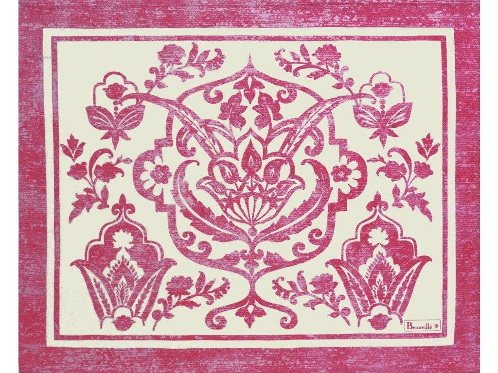 Beauvillé Saint-Tropez růžová prostírka s ochranou proti ušpinění 40x50 cm