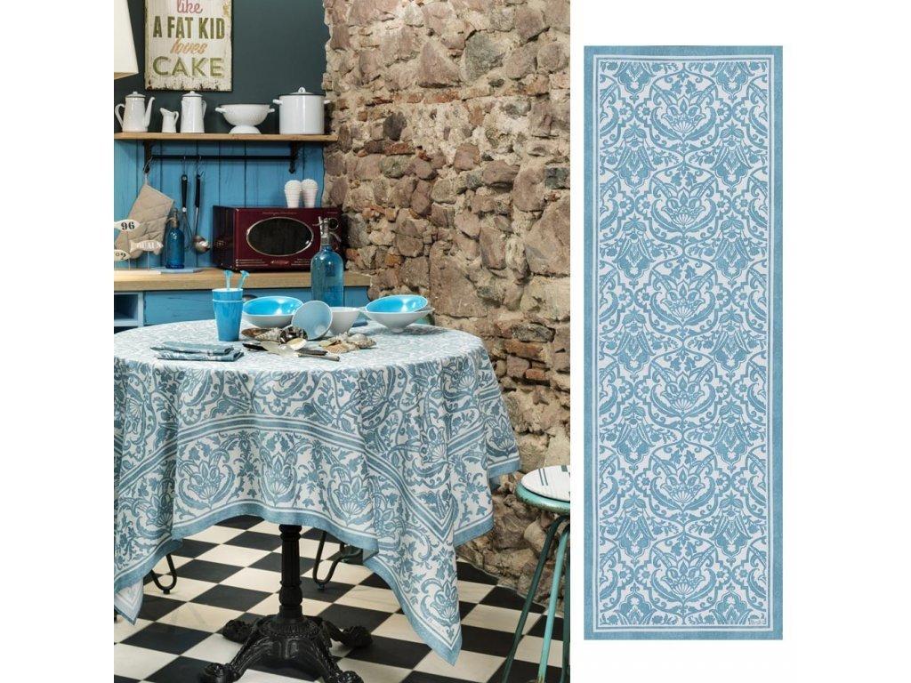 Beauvillé Saint-Tropez světle modrý běhoun 50x150 cm