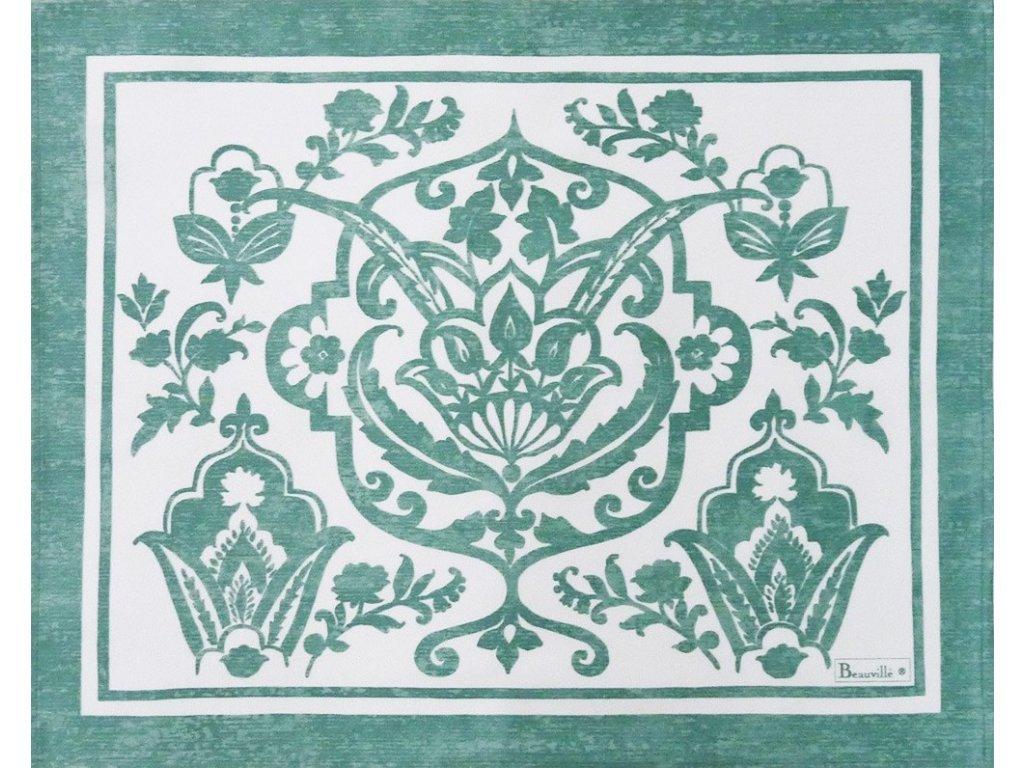 Beauvillé Saint-Tropez vodově zelená prostírka 40x50 cm
