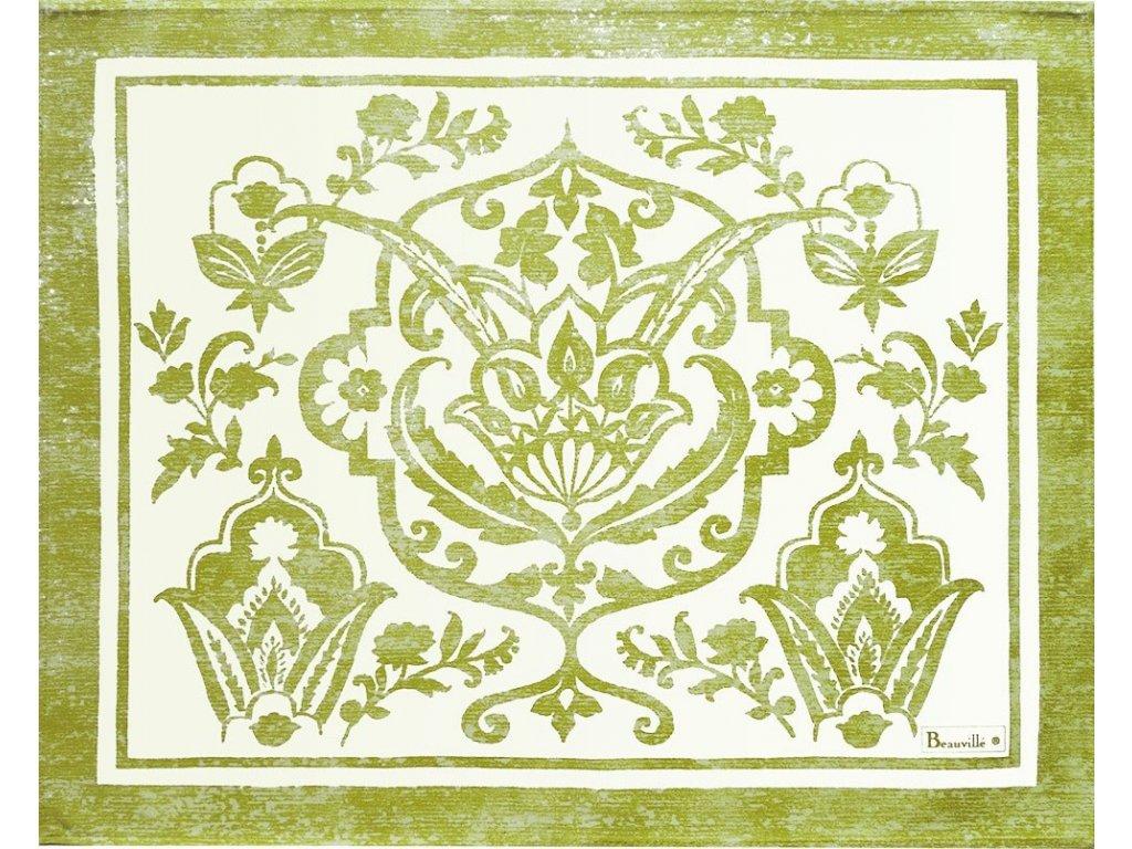 Beauvillé Saint-Tropez zelená prostírka s ochranou proti ušpinění 40x50 cm