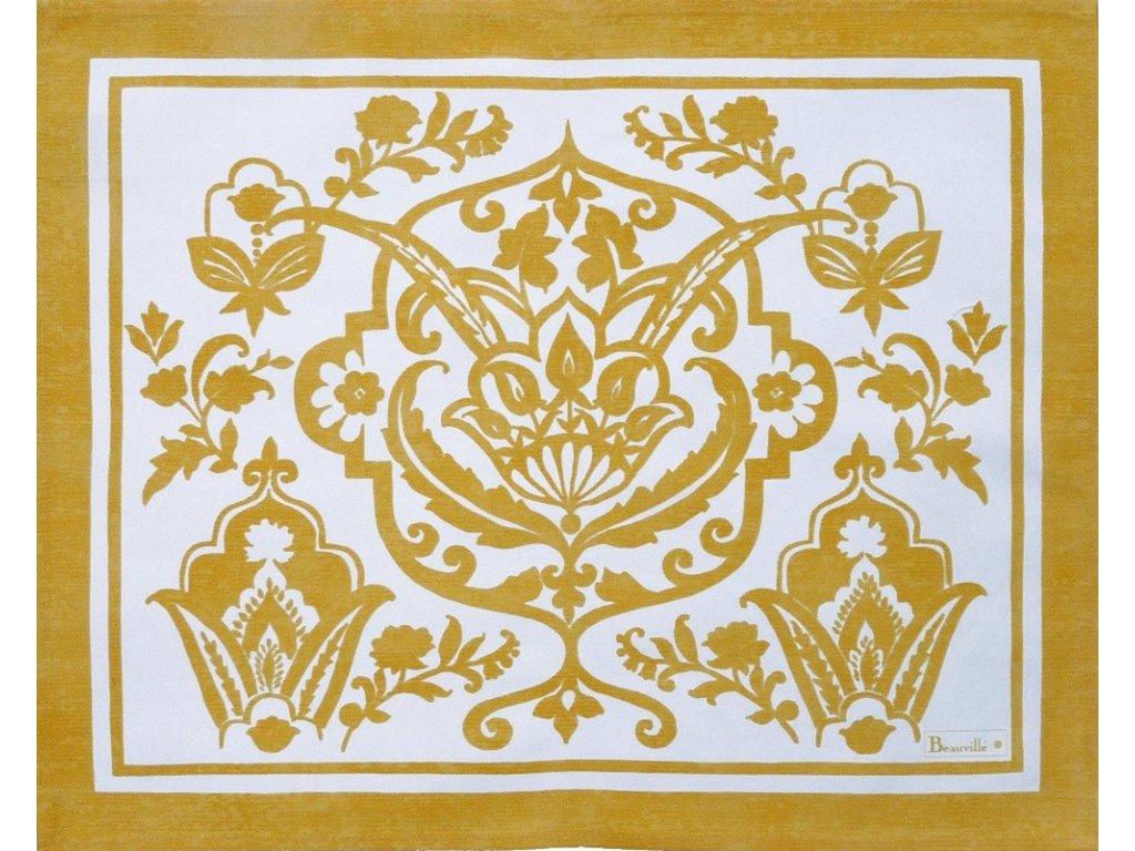 Beauvillé Saint-Tropez žlutá prostírka 40x50 cm