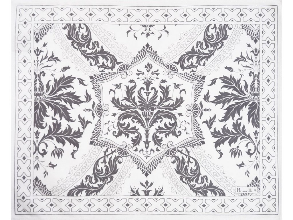 Beauvillé Topkapi bílá prostírka 40x50 cm