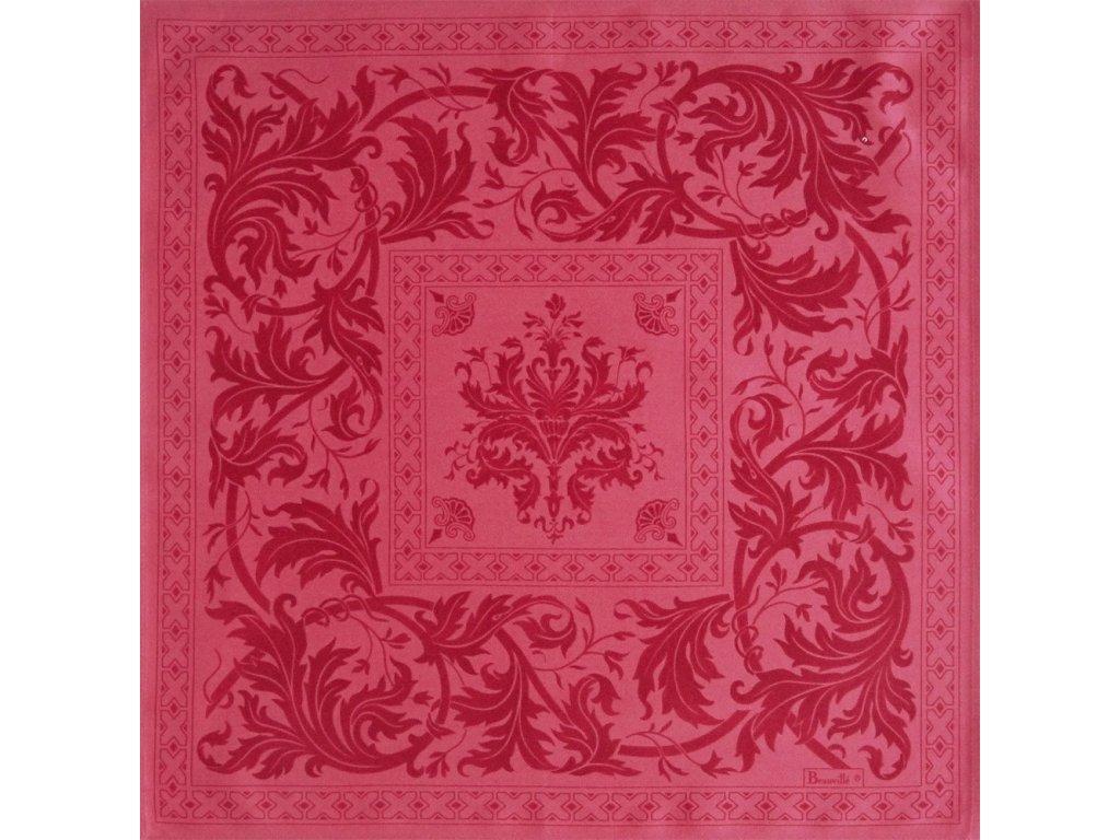 Beauvillé Topkapi růžový ubrousek 55x55 cm