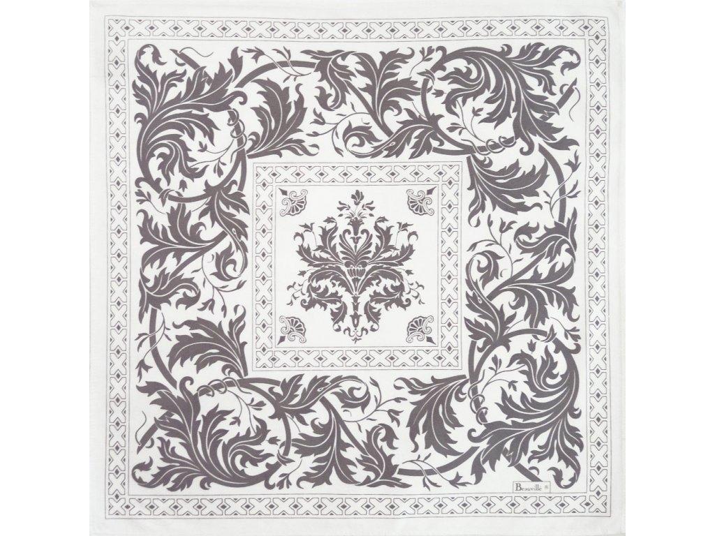 Beauvillé Topkapi stříbrný ubrousek 55x55 cm