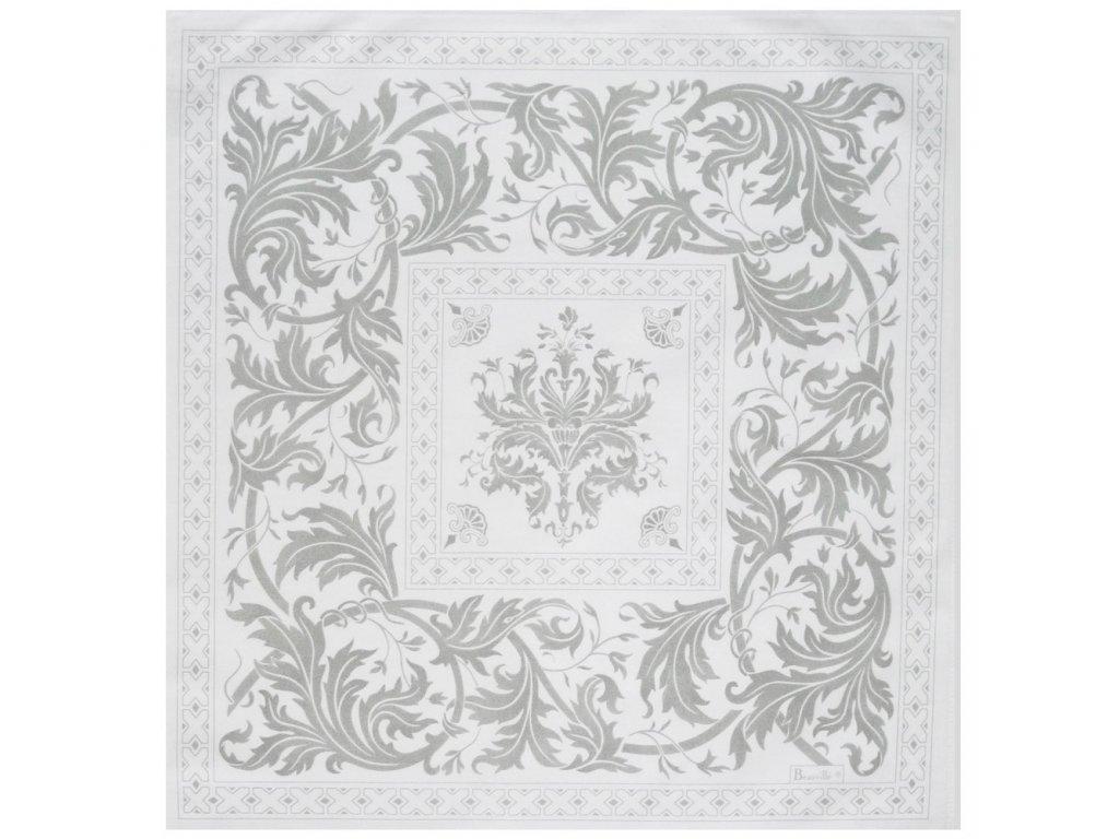 Beauvillé Topkapi titanová šedý ubrousek 55x55 cm