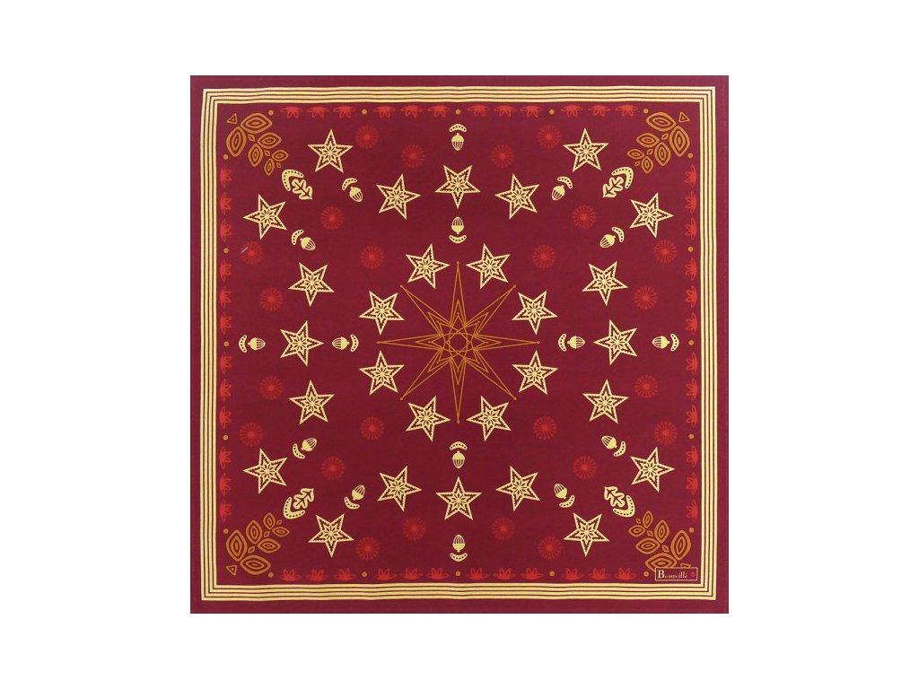 Beauvillé Feerie červený ubrousek 52x52 cm