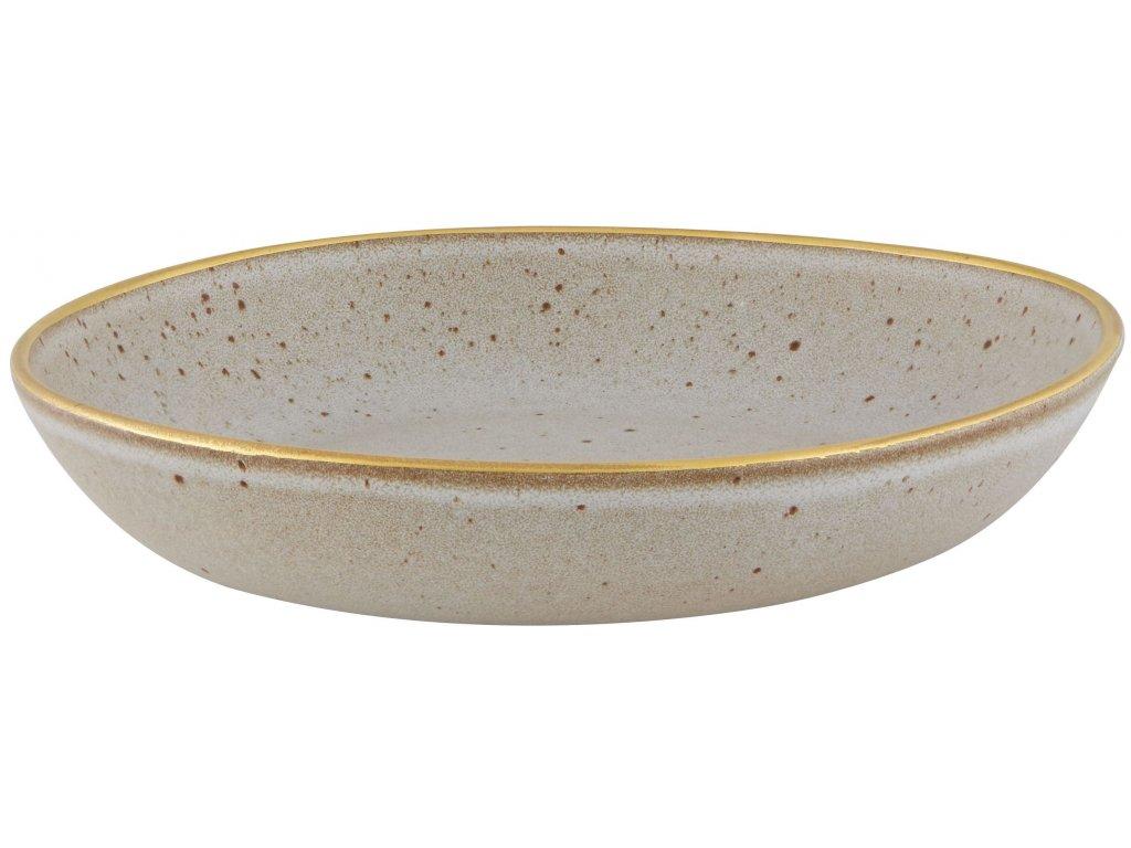 Casa Alegre Gold Stone Těstovinový talíř béžový